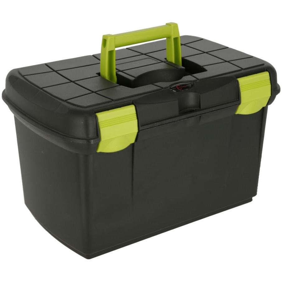 schwarz // pistazie Kerbl Putzbox Arrezzo mit herausnehmbarem Einsatzschwarz //